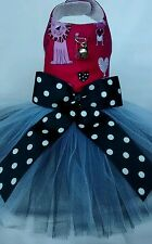 COMES IN SIZE XXS* XS* S ❤ ZOO ANIMALS TUTU DRESS  DOG/CAT/ PET WITH HARNESS
