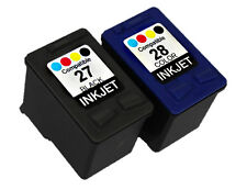 2PK Ink FOR HP 27 HP 28 HP27 HP28 C8727AN C8728AN Black&Color Deskjet 3450