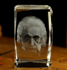 TOP business gift collection 3D Albet Einstein portrait Crystal Image Decoration