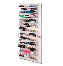 NEW 36 PAIR OVER THE DOOR HANGING SHOE HOOK SHELF RACK HOLDER STORAGE ORGANISER