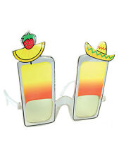 Novelty Beach Cocktail Hawaiian Lua Sunglasses Glasses Fancy Dress Funny Specs