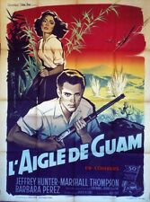 """L'AIGLE DE GUAM (NO MAN IN AN ISLAND)"" Affiche originale (Jeffrey HUNTER)"