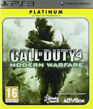 CALL OF DUTY 4 MODERN WARFARE CASTELLANO NUEVO PRECINTADO PAL ESPAÑA PS3