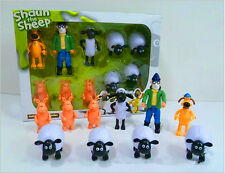 10 PCS Shaun The Sheep Action Figure Toy Child Gift DIY Car Decorate Doll