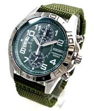 SEIKO CHRONOGRAPH WIDE DATE TOUGH BAND ARMY WATCH SNN107 SNN107P1