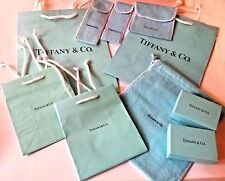 Tiffany & Co COLLECTION 4 Jewelry POUCHES 2 Empty BOXES 4 BAGS Medium/Small EUC!