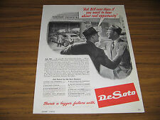 1945 Vintage Ad DeSoto Plymouth Car Dealer Dealership Real Opportunity