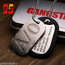 GANGSTA Nicolas Brown Military Card Cosplay Necklace Chain A/O Dog Tag + Box