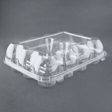 5pcs 12 Cupcake Cake Case Muffin Holder Box Container Carrier Clear Plastic 60