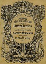 1922 Robert Schumann - Album für die Jugend fur Klavier Antique Sheet Music