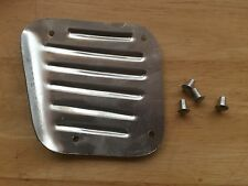 VINTAGE BMW NEW R26-R27 ALUMINUM KICK PLATE W/RIVETS FOR BATTERY COVER