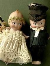 RARE 1930's Bride & Groom KEWPIE DOLLS Bisque Made in Germany Rose O'Neill