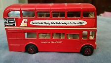 "CORGI,LONDON TRANSPORT ROUTEMASTER BUS,""CORGI TOYS""RED GREAT COND, NO BOX"