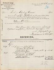 DRESDEN, Rechnung 1888, Brauerei-Bedarfsartikel, Pechsiederei Kuhbaus & Lange