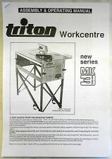 TRITON NEW SERIES MK3 (WCA001) WORKCENTRE MANUAL