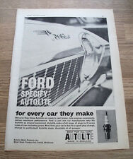 """Ford Corsair - """"Autolite Sparkplugs"""" 1964 CAR ADVERT POSTER Full Page 10 x 8in"""