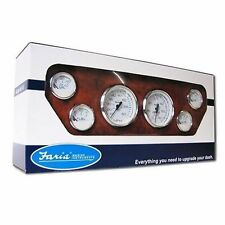 Faria Chesapeake White Stainless Steel Gauge KTF001 Inboard Boxed Set MD