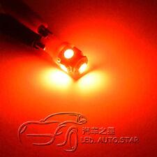 10 x Wedge 5 LEDs SMD Car Side Light Sidelight White Lamp Bulbs T10 W5W 501 168