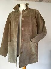 """CLASSIC CUT  LIGHT - MED GREEN LADIES SUEDE JACKET - LOOSE FIT 46"""" BUST"""