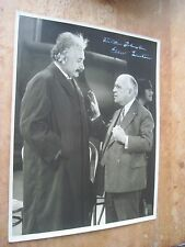 VERY LARGE SIGNED ALBERT EINSTEIN PHOTOGRAPH WITH FOUNDER OF UNIVERSAL PICTURES