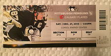 Pittsburgh Penguins/Calgary Flames Ticket Stub 12/21/13 Featuring Sidney Crosby