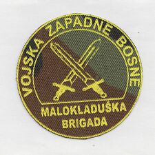 WESTERN BOSNIA ARMY -  BRIGADE OF MALA KLADUŠA -  cap patch 40 mm  War 1991-95