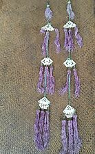 19th Cent Chinese Antique Silk Tassels With Mother Of Pearls