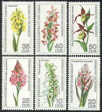 Germany 1976 Orchids/Flowers/Plants/Nature/Orchid/Wild Flowers 6v set (b228)