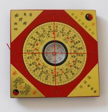 "Feng Shui Wood Square Luopan Compass Metal Surface ""Luo Jing yi"" Luo Pan"