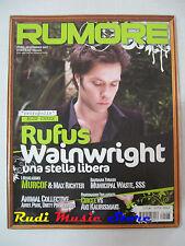 Rivista RUMORE 188/2007 Rufus Wainwright  Animal Collective  Ariel Pink NO cd*