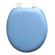 SOFT PADDED TOILET SEAT STANDARD ROUND -BLUE