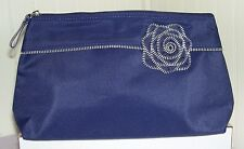 New Lancome PURPLE with Zipper Rose Cosmetic Bag Purse