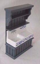 Country Cabinet w/ Blue Sink - 1.841/2 Reutter miniature dollhouse 1/12 scale