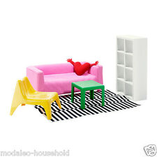 IKEA HUSET doll's furniture, living room lounge miniature toys for children-B787