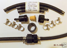 Honda GL1200 OEM style Black Braided Fuel Pipe and Alloy Filter Kits