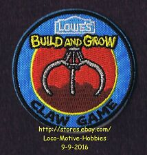 LMH PATCH Badge  2014 CLAW GAME Crane Drop Arcade  LOWES Build Grow Kids Clinic