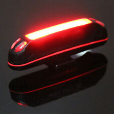 100LM Red LED USB Rechargeable Head Light Flash Bicycle Bike Stop Rear Tail Lamp