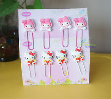 8 PCS Hello Kitty & Melody Note Office Paper Clip School Supplies Study Article