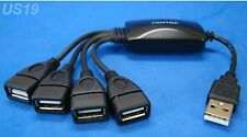 usa seller. NEW 4-WAY USB HUB MULTI Y ADAPTER SPLITTER 2.0 4-PORT. getwiredusa