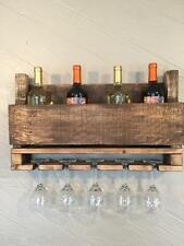 5 Glass Rustic Reclaimed Pallet Wine Rack
