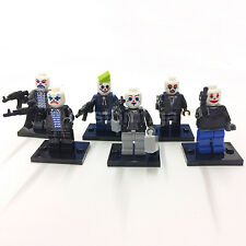 CUSTOM Batman Jokers Henchmen / Robbers / Villians 6 Minifigures & Lego Bricks