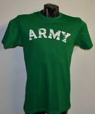 ARMY VINTAGE DESTROYED LETTERS KELLY GREEN  T-SHIRT- MEDIUM