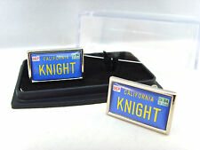 KNIGHT RIDER KITT CAR NUMBER PLATE MENS CUFFLINKS CUFF LINKS GIFT
