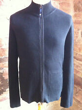 "Armani Jeans Zip-Up Jacket in Black in 100% Cotton - L (44"")"