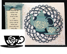 Tea Cup Thin Metal Die Cut - Serendipity Stamps Dies 021CD - food,drink