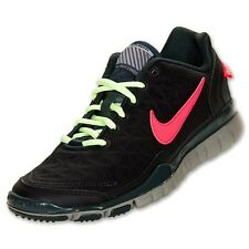 Nike Free TR FIT 2 SHIELD H2O Repel Reflective BLACK/BRGHT CRMSN-SWD-MDM GRY 9.5