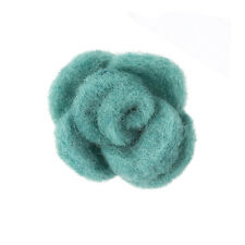 Brooch Hair Accessory Green Fabric Felt Flower 45mm Pack of 1 (B54/4)