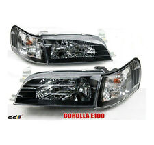 Front Black HeadLights Corner Lamp Fits Toyota Corolla AE100 AE101 E100 Sedan