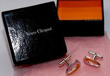 VEUVE CLICQUOT CHAMPAGNE GLOBAL LIGHT CUFFLINKS KARIM RASHID NEW IN BRANDED BOX