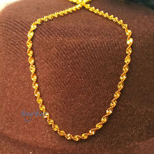Yellow Gold Filled Plated Double Water Wave Solid Color Womens Chain Necklace CN